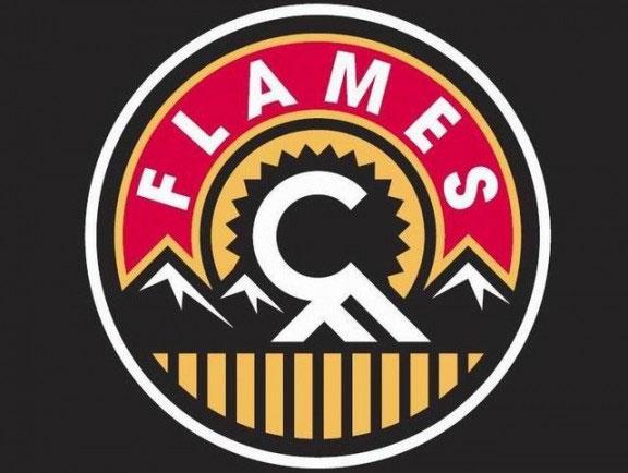 Flames Third Jersey Shoulder Logo