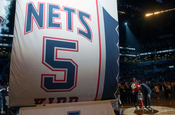 Brooklyn Nets Retire Jersey of Jason Kidd