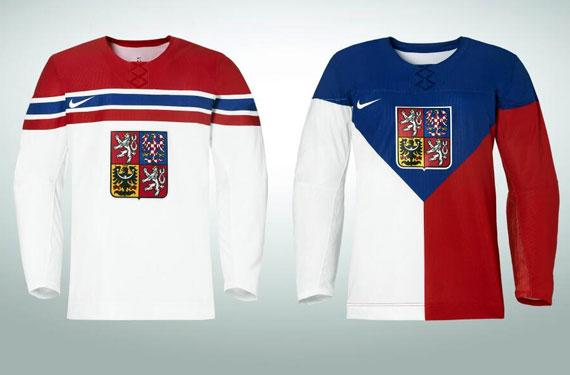 Czech Republic 2014 Olympic Hockey Jerseys Unveiled