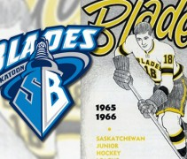 Saskatoon Blades Throwback Jersey 2013-14