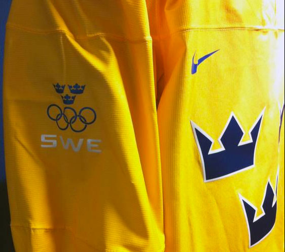 Sweden Hockey Jersey 2014 Olympics Sleeve