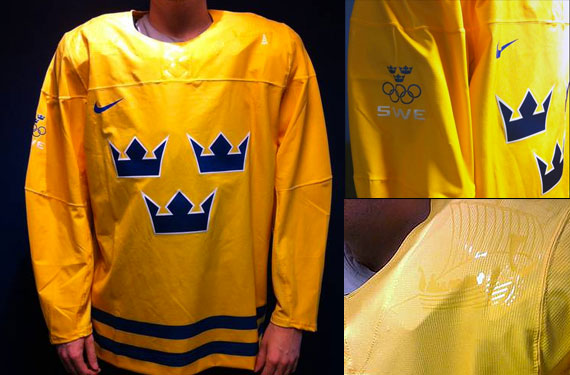 Sweden Olympic Hockey Jerseys 2014 Nike