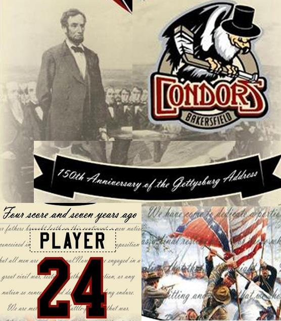 Lincoln, hat wearin' condors, banners, speeches, and the Confederate flag make up this promo jersey