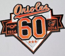 Baltimore Orioles 60th Anniversary Patch 2014