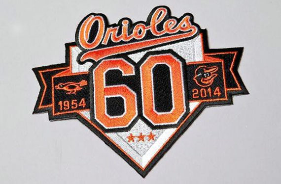 Baltimore Orioles to Wear 60th Anniversary Patch in 2014