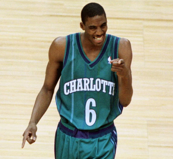 The original Charlotte Hornets uniform during the 1998-99 season