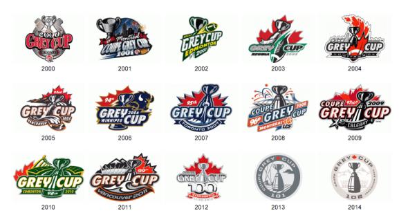 Grey Cup Logos 2000-2014