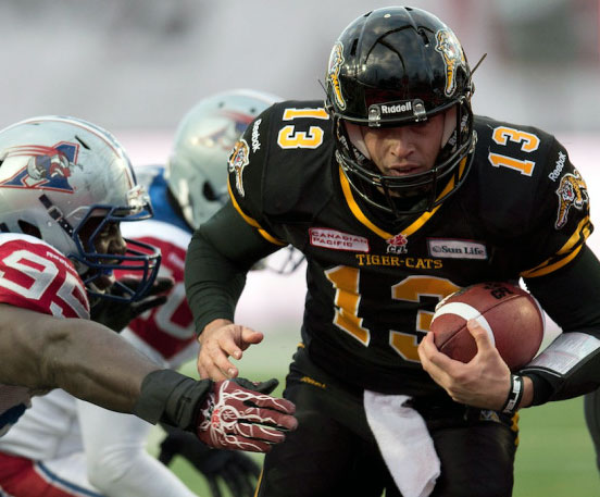 Hamilton Tiger-Cats Home Uniform 2013