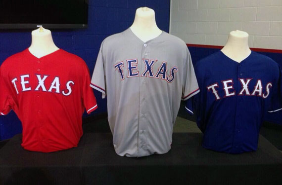 New Texas Rangers Uniforms