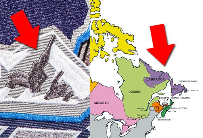 Newfoundland Labrador Map St Johns IceCaps Jersey