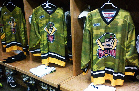 North Bay Battalion Camouflage Jerseys 2013