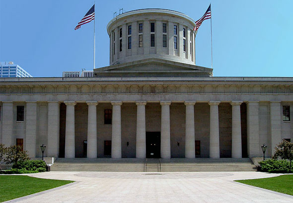 The Ohio Statehouse Capitol Building in Columbus
