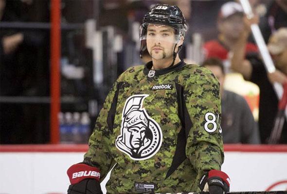 Ottawa Senators Camouflage Jersey 2013-14
