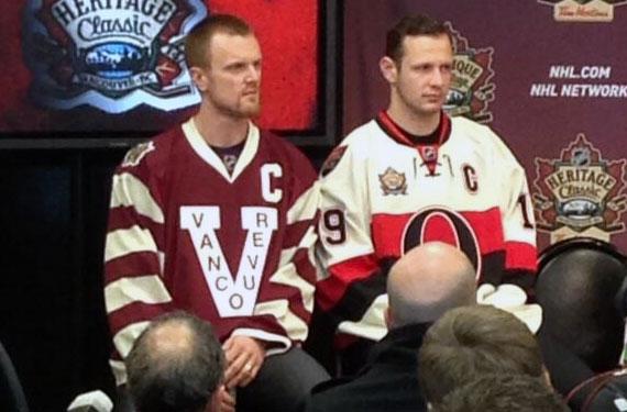 Senators, Canucks Unveil 2014 Heritage Classic Jerseys