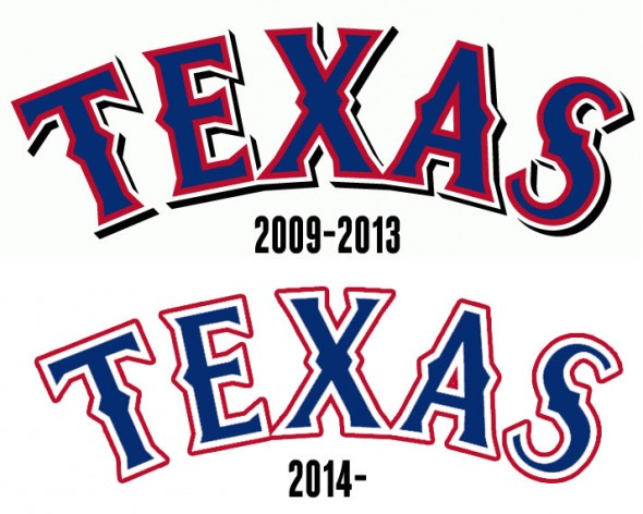 Texas Rangers New Wordmark Compare