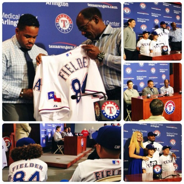 Texas Rangers Prince Fielder New Home Uniform 2014