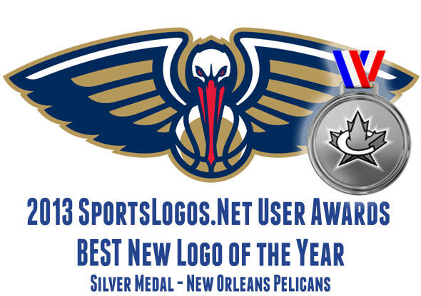2013 Best Logo SILVER - New Orleans Pelicans