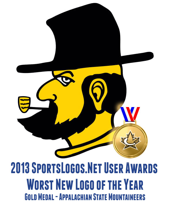 2013 Worst Logo GOLD - Appalachian State Mountaineers