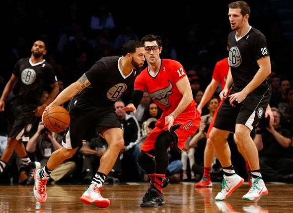 Brooklyn Nets Chicago Bulls Sleeved Christmas Jerseys 2013