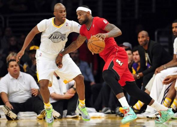 Los Angeles Lakers Miami Heat Sleeved Christmas Jerseys 2013