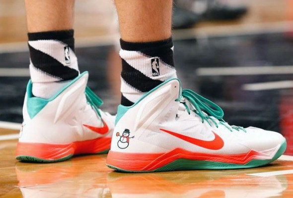 Mirza Teletovic Christmas Sneakers Nets 2013