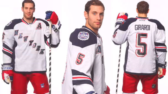 New York Rangers 2014 Stadium Series Uniform