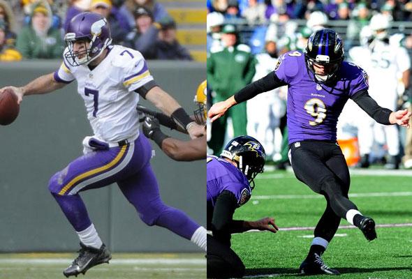 Minnesota (white/purple) at Baltimore (purple/black)