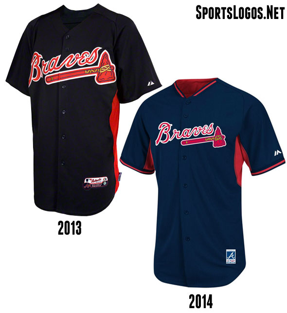 Atlanta Braves BP Jersey 2013-2014