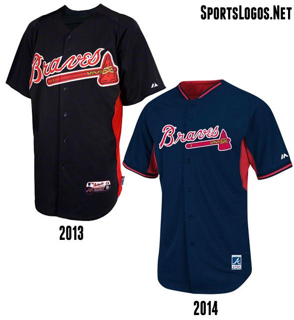 Atlanta Braves BP Jersey 2013-2014