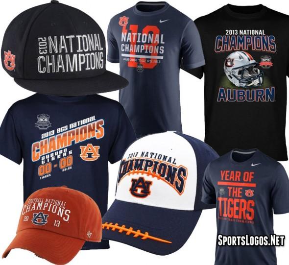 Auburn Tigers 2013 National Champions Phantom Merchandise
