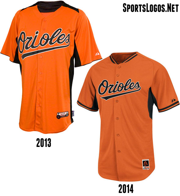 Baltimore Orioles BP Jersey 2013-2014