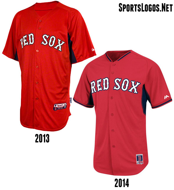 Boston Red Sox BP Jersey 2013-2014