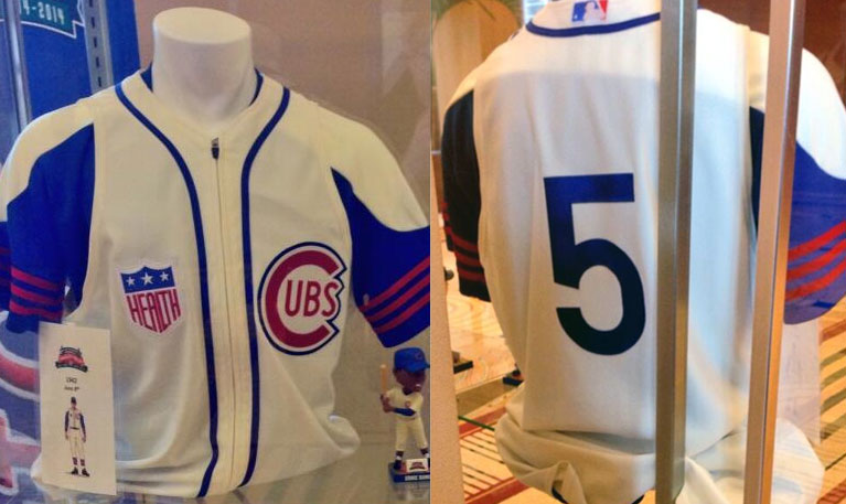 on sale 5d633 3cd29 chicago cubs retro jersey