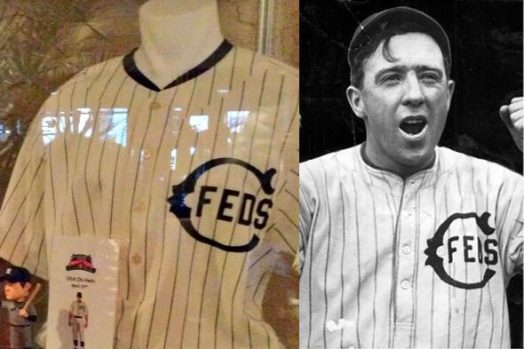 Chicago Cubs Chicago Federals Throwback Jersey - 2014