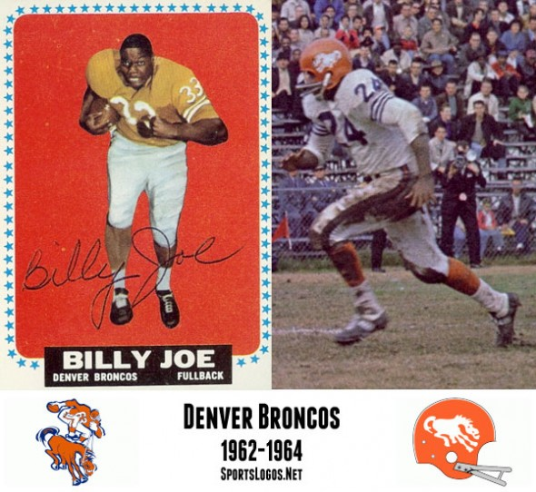 In 1962 the Broncos debuted their famous blue and orange colour scheme and introduced their first ever helmet logo -- a wild bucking horse