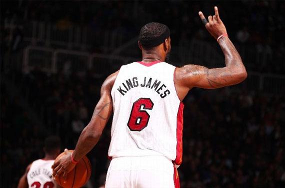 Miami Heat King James Lebron