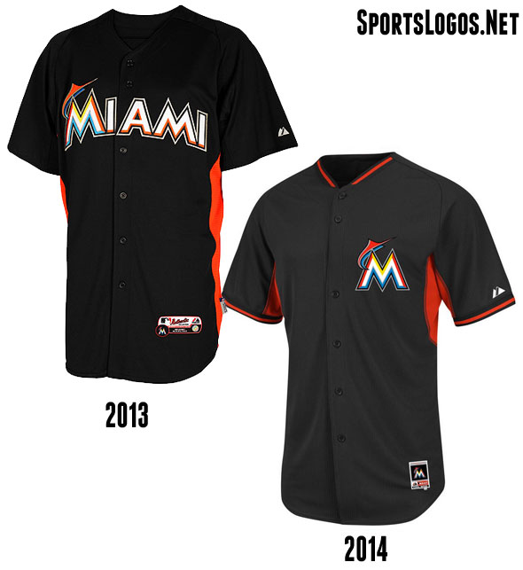 Miami Marlins BP Jersey 2013-2014