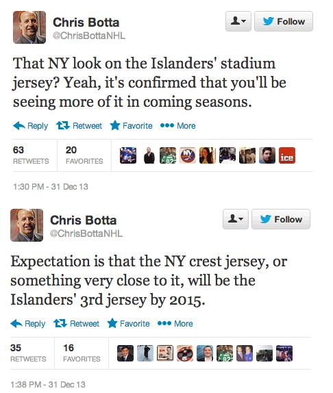 NY Islanders NY Logo Tweet