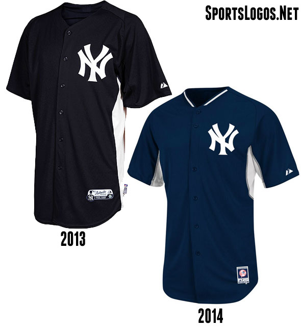 New York Yankees BP Jersey 2013-2014