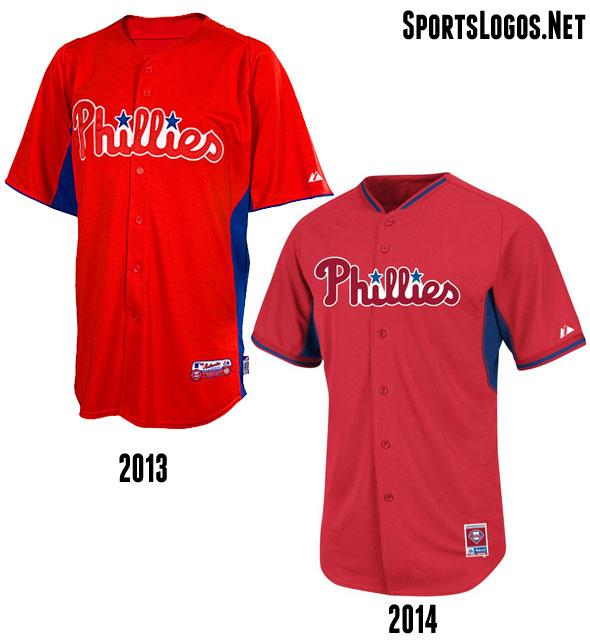 Philadelphia Phillies BP Jersey 2013-2014