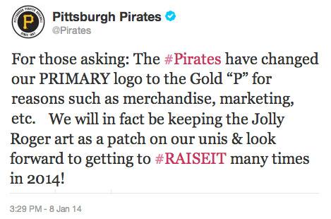 Pirates New Logo Tweet