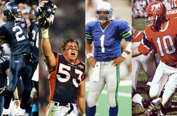 Photo Uniform Histories of the Broncos, Seahawks
