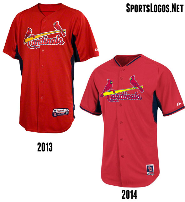 St Louis Cardinals BP Jersey 2013-2014