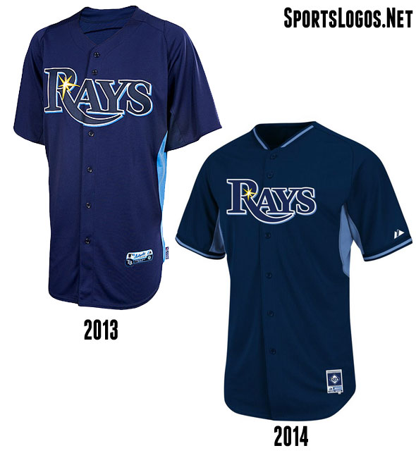 Tampa Bay Rays BP Jersey 2013-2014