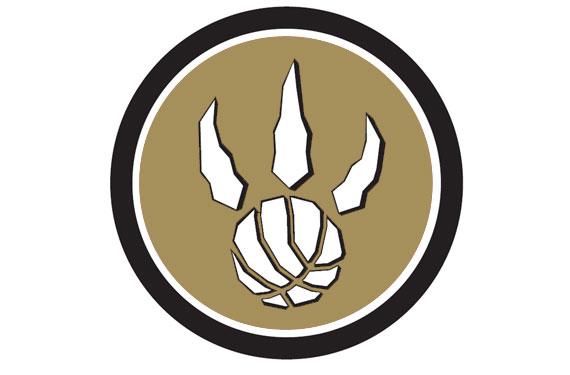 Toronto Raptors Black and Gold Logo