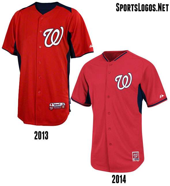 Washington Nationals BP Jersey 2013-2014