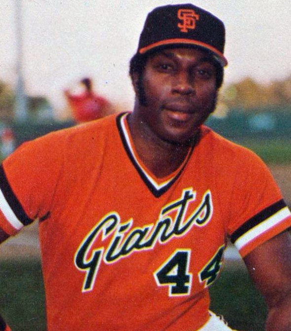 Willie McCovey wearing the old script back in 1980