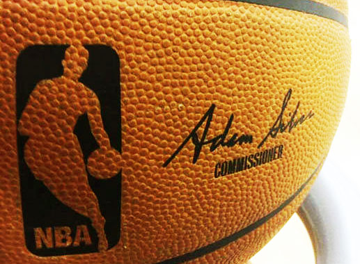 The new Adam Silver signature basketballs will be used in-game starting today