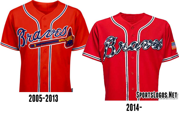 Braves New and Old Uniform Compare