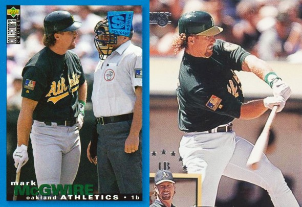 Gone: The A's are getting rid of this green alternate jersey which the team has worn since 1994, above is Mark McGwire wearing the uniform in its first season of use